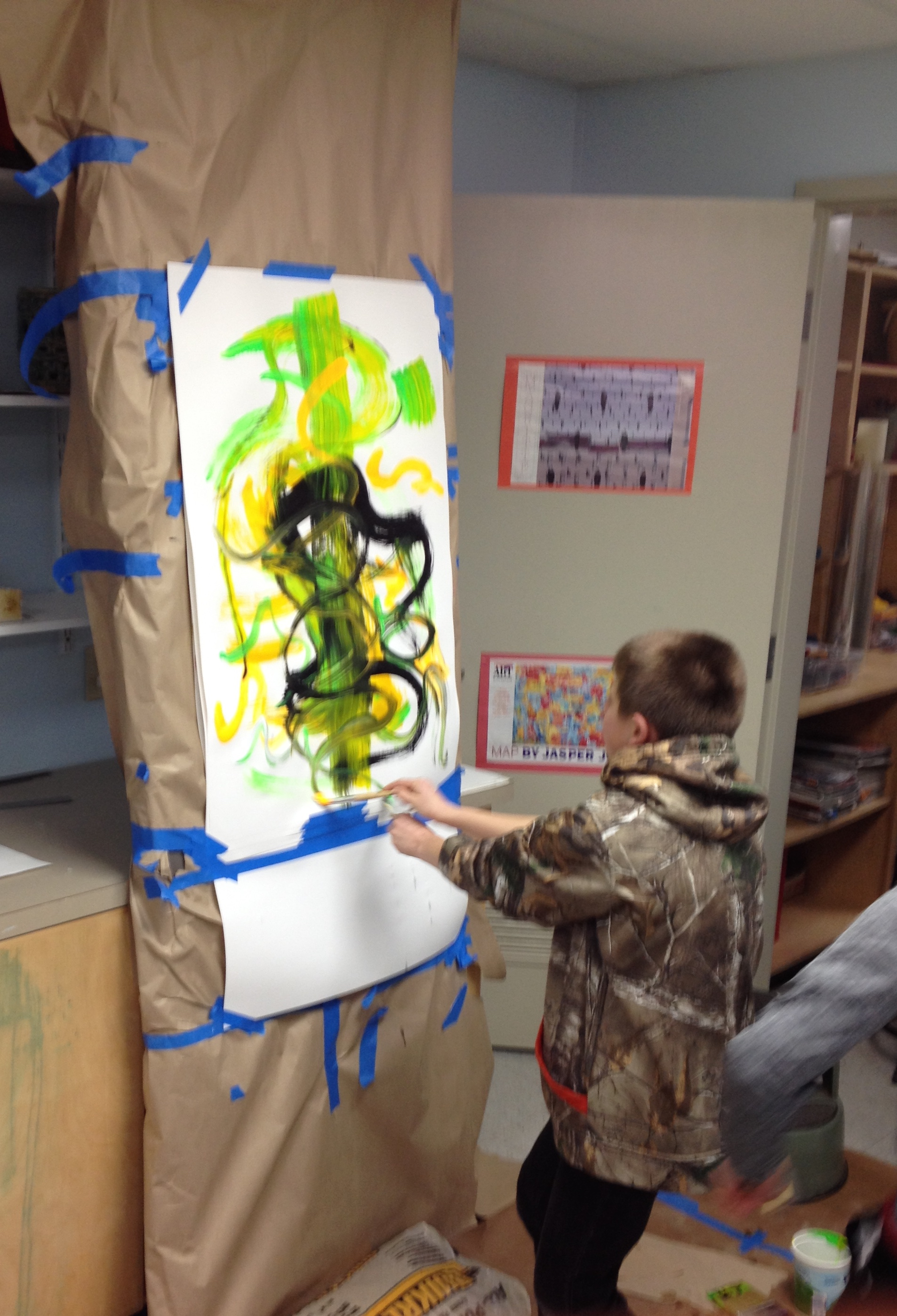 This painting wants to jump of the easel as it comes to life!