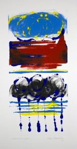 Roger Goldenberg's Visual Jazz New Monotypes Gallery A Sales offers new monotypes that are inspired by Geology, Weather and Climate Change Alchemist's Spin