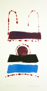 Roger Goldenberg's Visual Jazz New Monotypes Gallery A Sales offers new monotypes that are inspired by Geology, Weather and Climate Change Boodah Ball