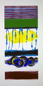 Roger Goldenberg's Visual Jazz New Monotypes Gallery B Sales offers new monotypes that are inspired by Geology, Weather and Climate Change Landscape
